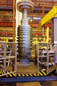 Сборка ротора высокого давления ГТУ MS5002E на Невском заводе