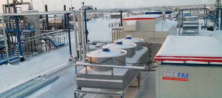 Многофункциональный технологический комплекс для подготовки ПНГ