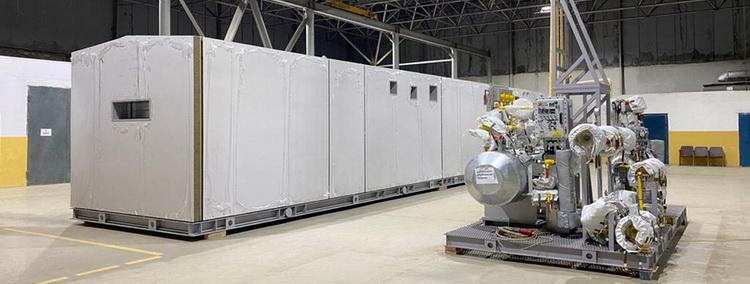 Оборудование УПТГ перед отгрузкой
