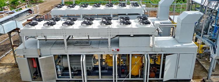 Компрессорные установки во время техобслуживания